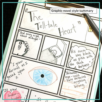 """Short Story """"The Tell-tale Heart"""" Analysis, Writing and Textual Evidence"""