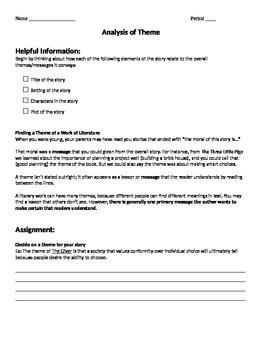 Short Story Theme Analysis Practice
