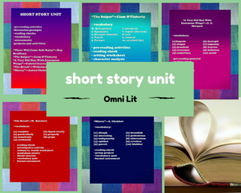 Short Story Unit:  Complete Lessons for 5 Stories