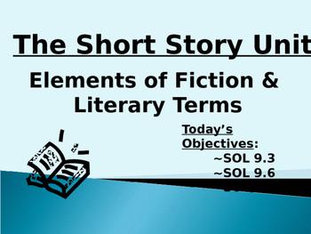 Short Story Unit - English (Grade 9)