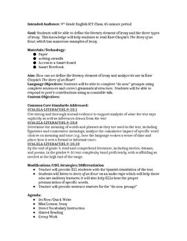 Short Story Unit Plan