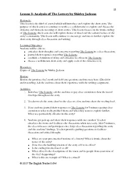 Short Story Unit Plan: Classic High School Short Stories, Lessons and Assessment