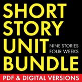 Short Story Unit Plan, 9 Short Stories for High School, PDF & Google Drive, CCSS