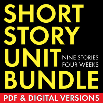 Short Story Unit Plan, FOUR WEEKS of Dynamic Lessons on Cl