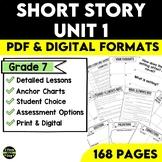 Short Story Unit Plan for Middle School Bundle 1