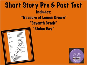 Short Story Unit Pre and Post Test