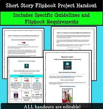 Short Story Unit Technology Project:  Create an Interactive, Animated Flipbook!