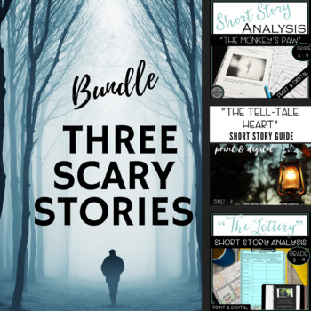 Short Story Unit:  Bundle of Three Scary Stories for Any Time of Year