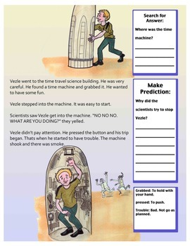 Short Story With Questions (Science Fiction) 2nd Grade Reading