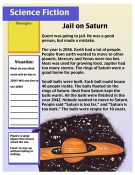 Short Story With Questions (Science Fiction Saturn) 2nd Grade Reading