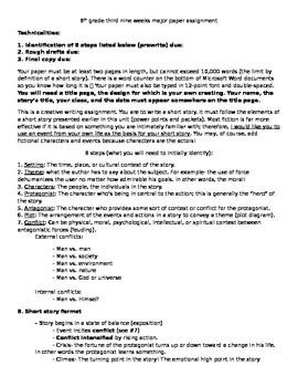Short Story Writing- 9 week story creation