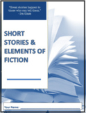 Short Story Writing Assignment & the Elements of Fiction Booklet