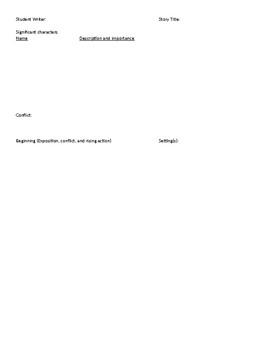 Short Story Writing Organizer