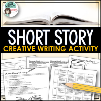 Short Story Writing-Unique Story Starter Idea, Worksheets,Organizers