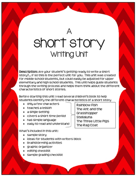Short Story Writing Unit