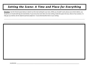 short story writing worksheets by alison nero teachers pay teachers. Black Bedroom Furniture Sets. Home Design Ideas