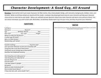 Short Story Writing Worksheets