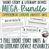 Short Story and Literary Device MEGA-BUNDLE!  Activities, Rubrics, Quizzes!