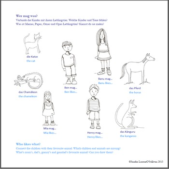 Short Story Book 3 German/English (animals, modal verbs, possessive pronouns)