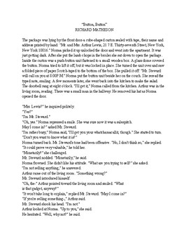 Short Story for Common Core English 9th and 10th Literature