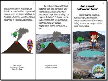 "Spanish Mini Book ""La Leyenda del Volcán Poas"" with Response Questions"
