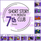Short Story Units for Middle School (Short Story of the Month Club, 7th Grade)