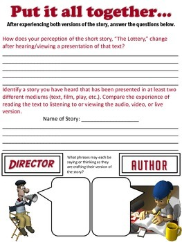 """Short Story/Film Comparison - """"The Lottery"""""""