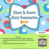 FREEBIE Short & Sweet Story Summaries