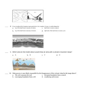 Short Test/Quiz over Tectonics, Cont Drift & Topo Maps