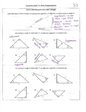 Short Trigonometry Unit Materials