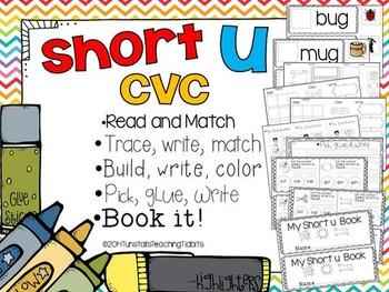 Short U CVC - 5 Interactive Activities