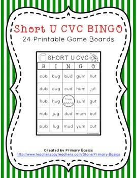 Short U CVC BINGO