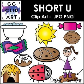 Short U CVC Clip Art Images