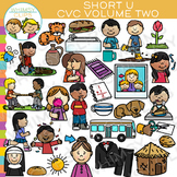 CVC Short U Vowel Clip Art - Volume Two