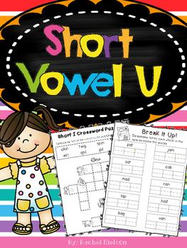 Short U CVC Phonics Printables (No Prep)