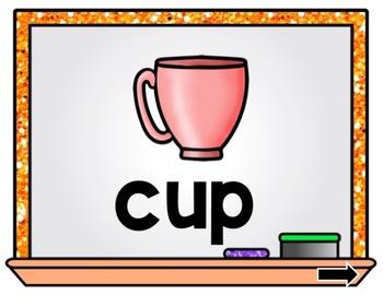 Short U CVC Word Unscramble PowerPoint Game