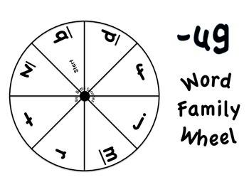 Short U CVC Word Wheel Word Work