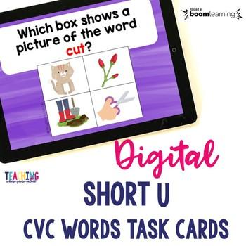Short U CVC Words Digital Cards