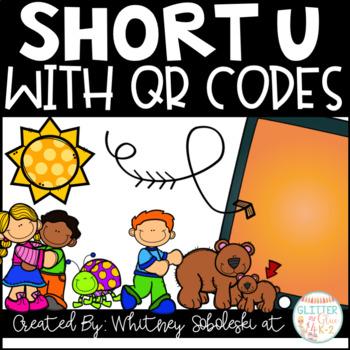 Short U CVC Words with QR Codes