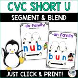 Short U CVC for Beginning  Readers Segmenting and Blending