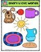 Short U CVC words {P4 Clips Trioriginals Digital Clip Art}
