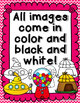 Short U Clipart - CVC words color and black and white