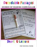 CVC Words Decodable Stories Short Vowel U  With Cloze Passages