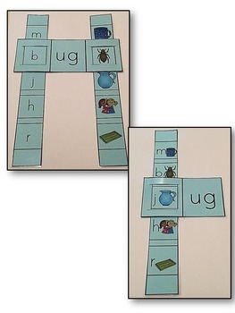 Short U- Family Words- Single & Double Sliders (UG, UB, UN)