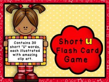 Short U Flashcard Game - CVC Words
