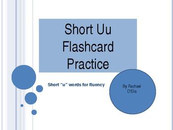 Short U Flashcard Practice