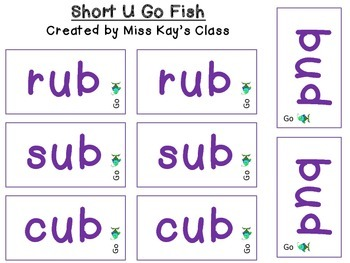 Short U Go Fish - CVC - CVCC