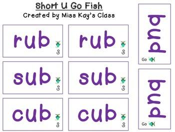 Short U Go Fish - CVC - CVCC