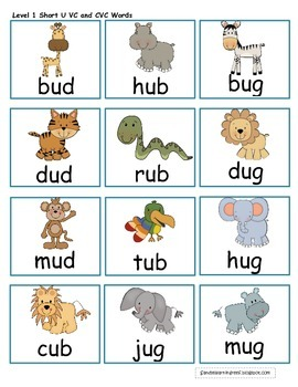 Short U Jungle Differentiated Short U Word Family Games, Activities, and More!