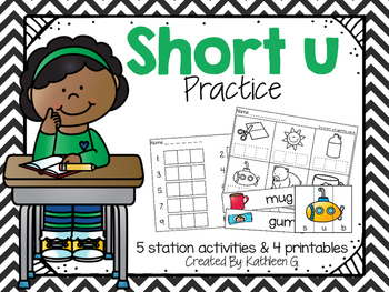 Short U Literacy Stations and Printables